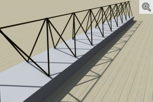 Belki stropowe od 2,20 do 7,20 m - wizualizacja