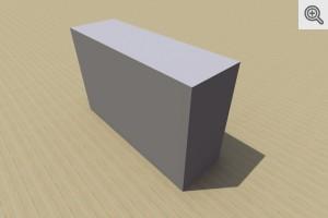 Bloczek betonowy 15 - wibroprasowany - wizualizacja