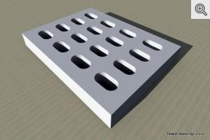 Płyta jombo pojedynczo zbrojona 100x75x12,5 - wizualizacja