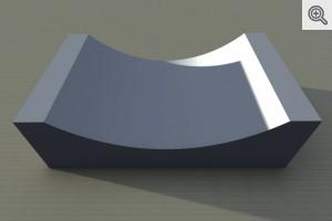 Korytko ściekowe 50x30x15 - wizualizacja