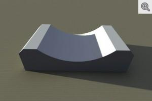 Korytko ściekowe 60x33x15 - wizualizacja