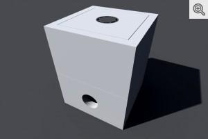 Studnia kablowa SK-1 dwuelementowa z ramą - wizualizacja