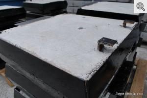 Pokrywa do SK stalowa 500x500 z wywietrznikiem (bierna)