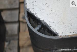 Pokrywa do SK stalowa ciężka 1000x600 z wywietrznikiem, 03 detal
