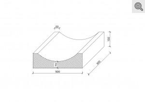 Rysunek techniczny korytka mulda 50x30x15