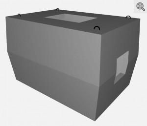 Studnia kablowa SKMP-3 dwuelementowa - wizualizacja