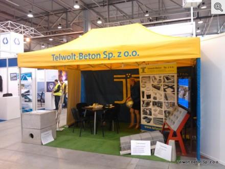 Stoisko firmy Telwolt-Beton na Targach Autostrada 2014 w Kielcach, 01